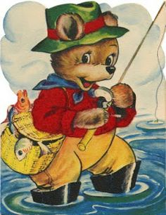 A dozen adorable vintage Father's Day cards - Click Americana Fathers Day Cards, Happy Fathers Day, Vintage Cards, Vintage Images, Christmas Paper, Vintage Christmas, Vintage Fairies, Hallmark Cards, Vintage Teddy Bears