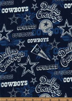 Dallas Cowboys Football Fabric - Pennants - NFL - Cotton - by Fabric Traditions by QuiltsOnTheFly on Etsy Dallas Cowboys Wallpaper, Dallas Cowboys Decor, Dallas Cowboys Football, Pittsburgh Steelers, Official Nfl Football, Sports Wallpapers, Georgia Bulldogs, Minnesota Vikings, Kansas City Chiefs