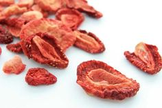 How to dehydrate strawberries in your oven. Dried strawberries are a delicious and healthy snack and can also be added to baked goods and cereal.