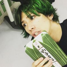 One Ok Rock Taka new hairstyle green One Ok Rock, Takahiro Morita, Takahiro Moriuchi, Rock Hairstyles, Make Her Smile, Smile Everyday, Her Music, Green Hair, My Chemical Romance