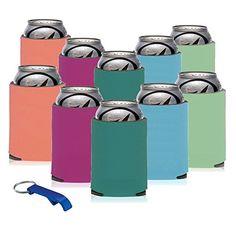 NEW BevWorx Colorful 10 Pack Summer Koozies w/FREE Bottle... https://www.amazon.com/dp/B01HSRK2KK/ref=cm_sw_r_pi_dp_tKfExb7RZQ0M2
