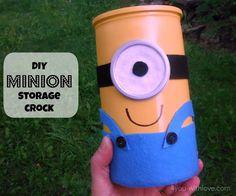 DIY Minion Storage Crock