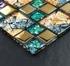 Stainless steel tile glass tiles glass mosaic bathroom tiles SSMT003 modern bathroom tile - I would like to see this on a wall/floor