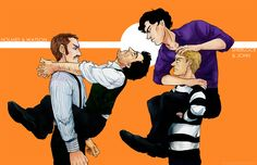 """How to Train Your Sherlock"" by artingcrusca. 1. Do not let Sherlocks make eye contact with each other. 2. Do not let your Sherlock climb all over you; be assertive. 3.(A must!) Be John Watson."
