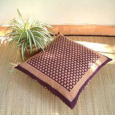 Purple Moon ~ Decorative India Floral Euro European Pillow Sham