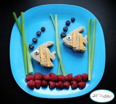 "the 3 year old would LOVE this ""fish"" sandwich for lunch!"