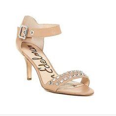 "NEW! Sam Edelman Ryelle Nude Heels New in box! Sam Edelman nude leather studded heels. 3"" Sam Edelman Shoes Heels"