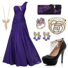 Dark Purple Elegant Outfit