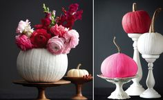 I love the idea of using a pumpkin as a vessel for flowers. Photo by Roberto Caruso.