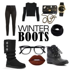 """Winter 2k17"" by wonderariee on Polyvore featuring UGG, Western Chief, Levi's, Chanel, Helmut Lang, Lime Crime and Rolex"