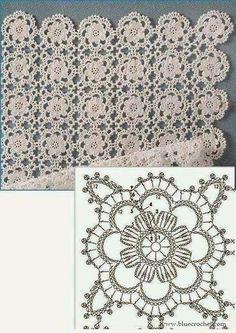 Delicate Crochet Motif - Free Crochet Diagram - (ivelisefeitoamao) by carlani Crochet Bolero, Crochet Motifs, Crochet Blocks, Crochet Diagram, Crochet Stitches Patterns, Crochet Squares, Crochet Chart, Thread Crochet, Crochet Granny