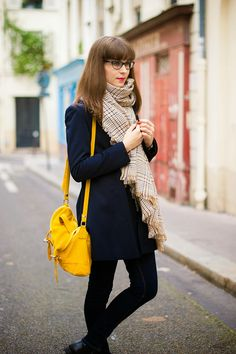 Mode and The City - Blog mode et lifestyle // mustard yellow and navy blue