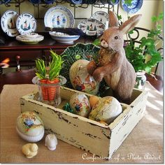 CONFESSIONS OF A PLATE ADDICT: My Rustic Box Dressed for Easter