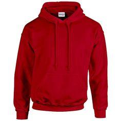 Gildan Heavy Blend Erwachsenen Kapuzen-Sweatshirt 18500 XXL, Cherry Red