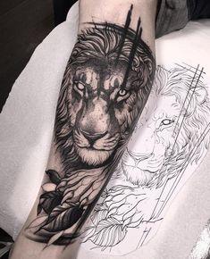 lion tattoo ideas on the sleeve future tattoos эс Feather Tattoos, Forearm Tattoos, Finger Tattoos, Body Art Tattoos, New Tattoos, Girl Tattoos, Tattoos For Guys, Sleeve Tattoos, Tattoo Arm