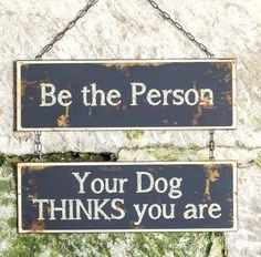 New Primitive Vintage Style BE THE PERSON YOUR DOG THINKS YOU ARE Tin Sign    eBay