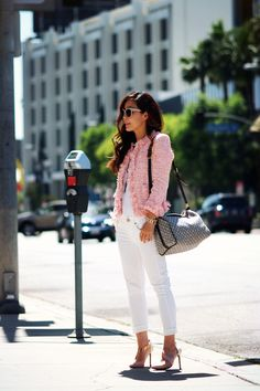 Pink-Tweed-Jacket-n-White-Skinny-Jeans
