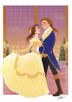 Mary Poppins Jolly Holiday, Belle And Adam, Beauty And The Best, Disney Princess Pictures, Fairytale Art, Disney Fan Art, Princesas Disney, Animation Film, Disney Magic