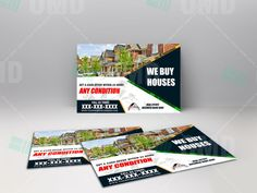 Generate Move Motivate Sellers with these We Buy Houses postcards