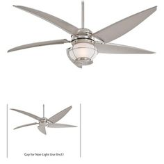 Minka-Aire MF579LBNW Magellan Oversize Fan (60'' and Larger) Ceiling Fan - Brushed Nickel Wet