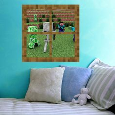 Surrounded  Minecraft Window   Vinyl Wall Decal by WilsonGraphics, $26.50