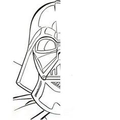 Pinta la otra mitad de Darth Vader // Use the Force of creativity and complete Lord Vader!
