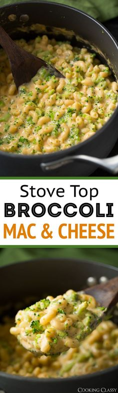 Stove Top Broccoli Mac and Cheese - Cooking Classy