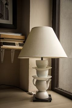 Another case of re-used porcelain.  We just drill it and use old lamps.