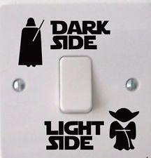 Star Wars Lado oscuro de la Luz Interruptor De Luz Pegatina De Vinilo Calcomanía Niños Dormitorio Arte