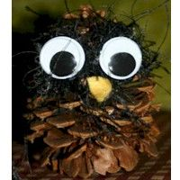 Wise Guy Owl Pine Cone Craft Craft (kid friendly) ... http://www.freekidscrafts.com/wise_guy_owl_pine_cone_craft-e46.html