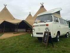 VW Camper Tipi Wedding Devon by VW Camper Hire Devon Ltd Devon Holidays, Tipi Wedding, North Devon, Vw Camper, Weddings, Wedding, Marriage