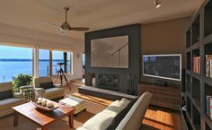 bay house - contemporary - Family Room - Dc Metro - Gardner Mohr Architects LLC… artwork is from IKEA
