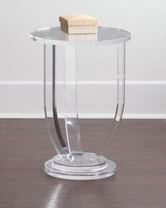 H7T83 INTERLUDE Bayberry Acrylic Side Table