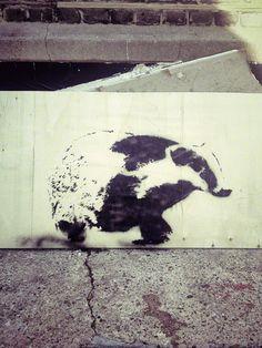 ::: Found :::  Badger (Stoke Newington, London — October 6, 2012)[Artist: Stewy]