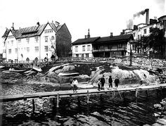 Signe Brander: Poikia onkimassa Eläintarhanlahden laiturilla, 1907 © Helsingin kaupunginmuseo