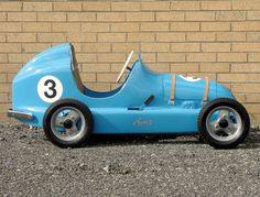 Austin Seven pedal car of 1949 and based upon the original, pre-war supercharged racer.