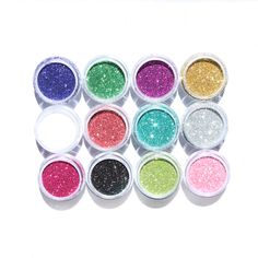 $1.99 1pc Shiny Nail Art Glitter Powder Acrylic UV Nail Art Decoration 12 colors - BornPrettyStore.com