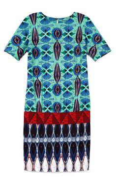 Stella Jean Printed Wax Cotton Tunic #ItsAllAboutAfricanFashion #AfricaFashionShortDress #AfricanPrints #kente #ankara #AfricanStyle #AfricanFashion #AfricanInspired #StyleAfrica #AfricanBeauty #AfricaInFashion