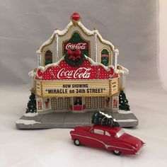 Coca Cola Village 2001 Coca Cola Theater Miracle on 34th Street Lighted Bldg #Hawthorne