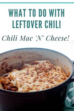 Have leftover chili you don't know what to do with? Make this one pot favorite chili mac n cheese by combining leftover chili with pasta for the ultimate comfort meal Healthy Beef Recipes, Beef Recipes For Dinner, Clean Eating Recipes, Simple Recipes, Easy One Pot Meals, Quick Weeknight Meals, Easy Dinners, Kitchen Recipes, Cooking Recipes