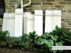 The Painted Home: { How to make your own exterior Shutters } yay! For our one window on the driveway side of the house