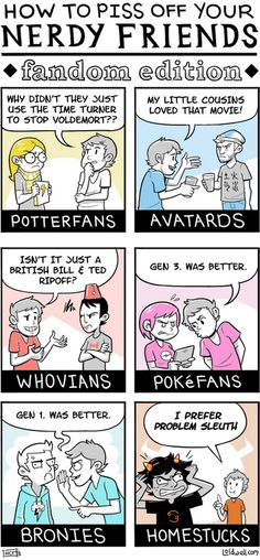 Yep all of these things would annoy me!  I like how Pokemon and MLP are pretty much the inverse!  :D