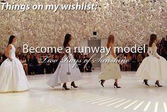 Become a runway model
