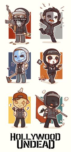 Hollywood Undead CHIBI // they're so friggin ADORABLE I love it!!