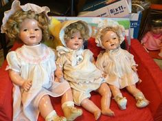 "Vintage Baby Shirley Temple Dolls!! ""3"" YES ""3""! 22, 18 and 16 inch! L@@K!! #Dolls"