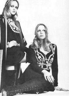 """twentiethcenturybabes: """" Pattie Boyd and Twiggy for Vogue, 1969 """""""