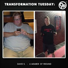 "Today, get ready because we have an INCREDIBLE story for you!  This INSPIRING 9Rounder in the ""before"" and ""after"" picture is David S.  He is a DEDICATED 9Rounder from Omaha and his testimonial story is JUST as AMAZING (327 lbs to 187 lbs in 7 months) as his transformation!!!  Check out his story below!  David joined 9Round in November of 2014. He writes:   CLICK LINK TO SEE MORE:  http://on.fb.me/1IwxObf   ‪#‎9Round‬ ‪#‎9Rounder‬ ‪#‎TransformationTuesday‬ ‪#‎GetFit‬ ‪#‎GetHealthy‬…"