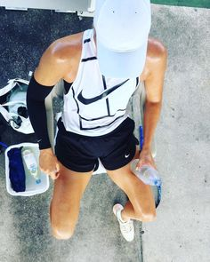 Maria's Instagram: Real life NikeCourt ad presented by 🙋🏼💦