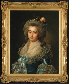 """""""Portrait of an Elegant Lady"""" SOLD Manner of Marie Louise Ėlisabeth Vigée Le Brun (French, 1755-1842) 28"""" x 22"""", oil on canvas, ca. 1780-1810"""