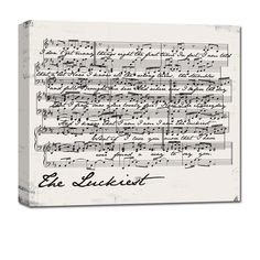 Sheet Music notes on canvas - perfect for your wedding song. #music #lyrics #decorate
